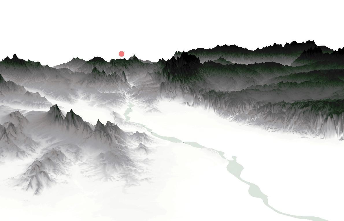 山水简单画作_GaoHR | 利用ArcGIS制作水墨山水画风格地图